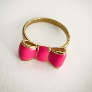 Kate Spade Pink and Gold Bow Ring